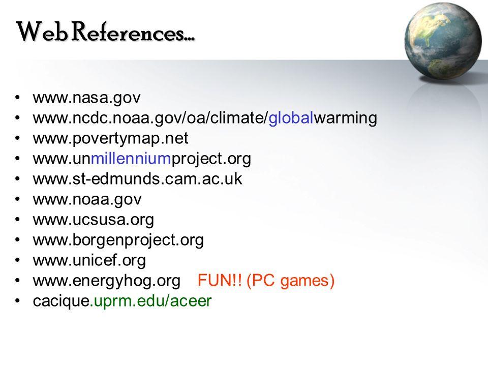 Web References… www.nasa.gov