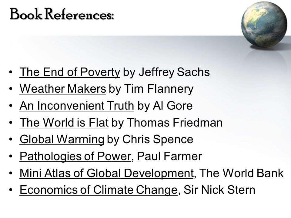 Book References: The End of Poverty by Jeffrey Sachs