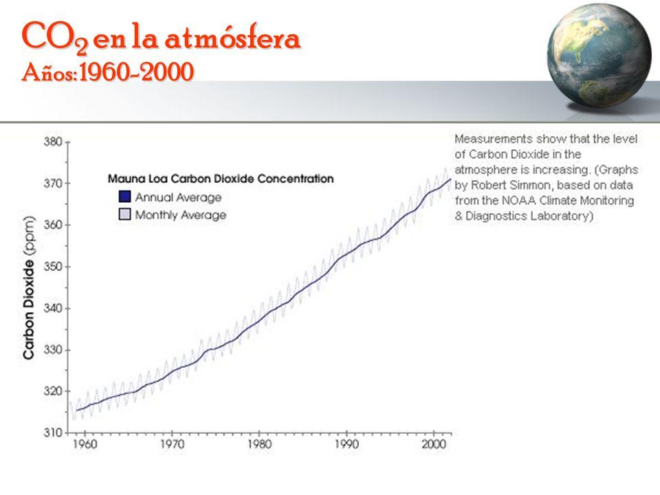 CO2 en la atmósfera Años: 1960-2000