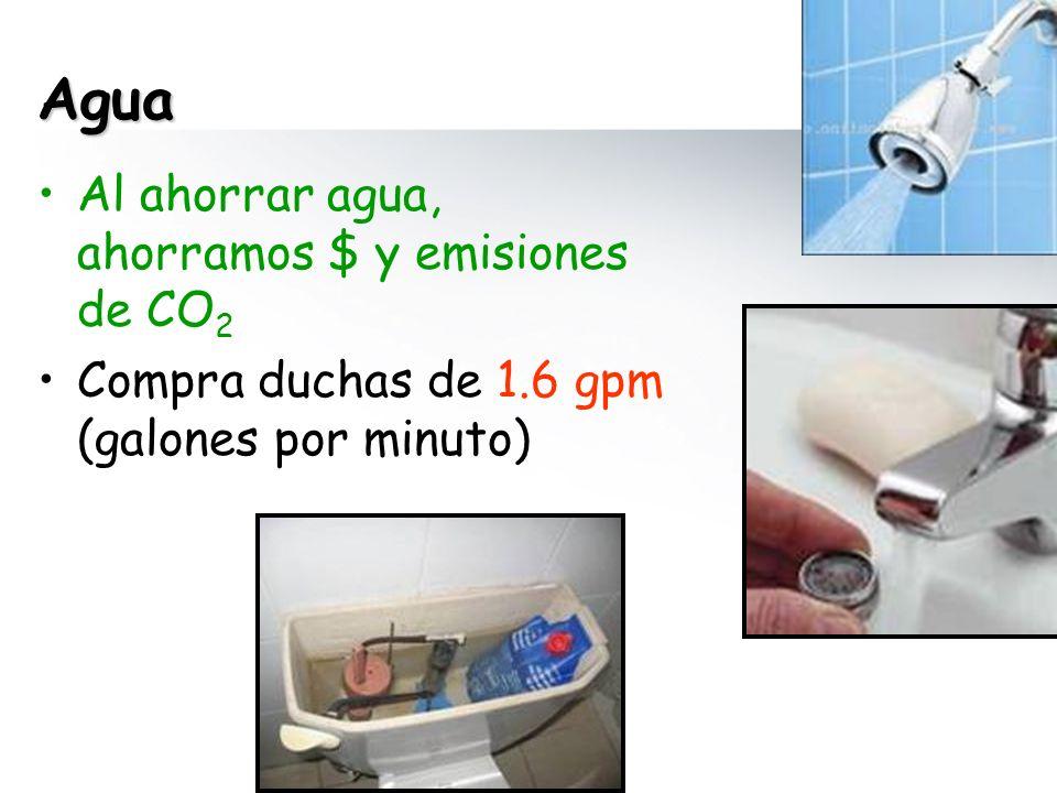 Agua Al ahorrar agua, ahorramos $ y emisiones de CO2