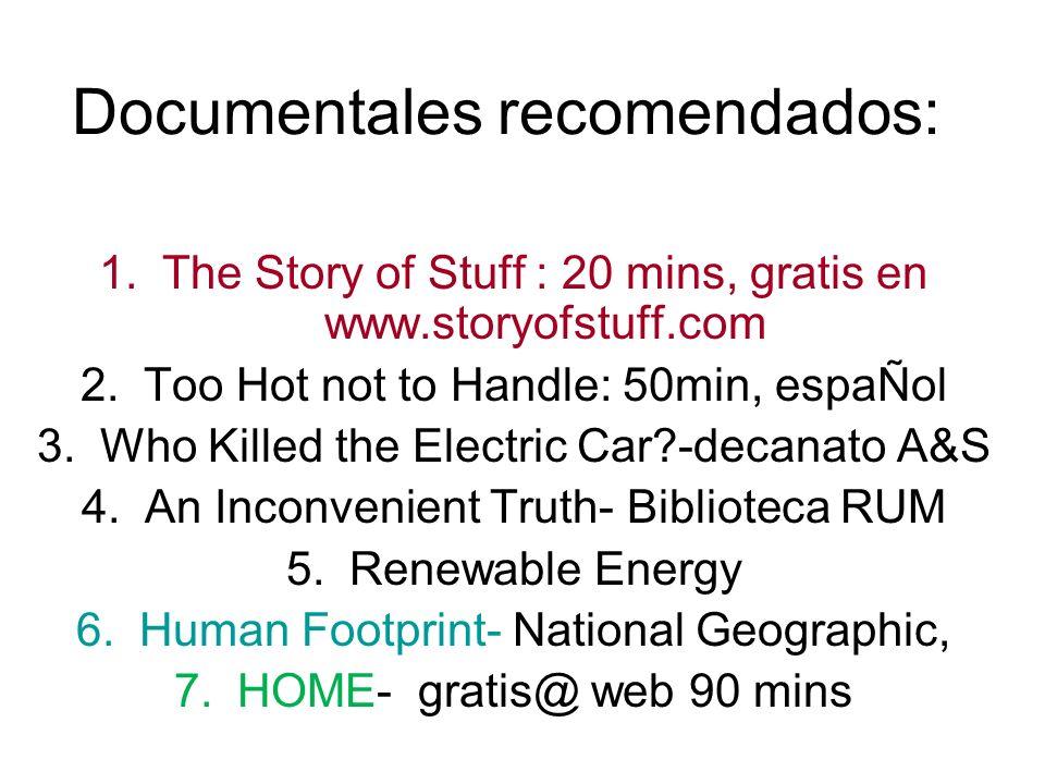 Documentales recomendados: