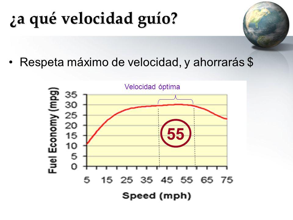 ¿a qué velocidad guío 55 Respeta máximo de velocidad, y ahorrarás $