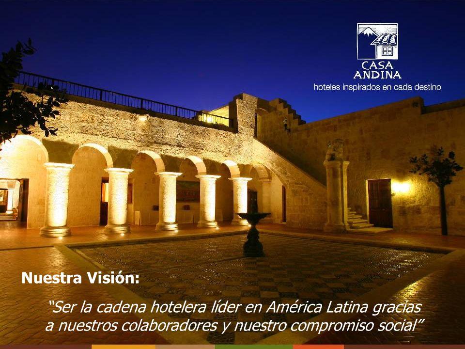 Nuestra Visión: Ser la cadena hotelera líder en América Latina gracias a nuestros colaboradores y nuestro compromiso social