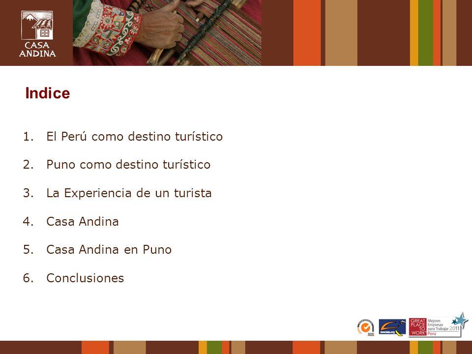 Indice El Perú como destino turístico 2. Puno como destino turístico