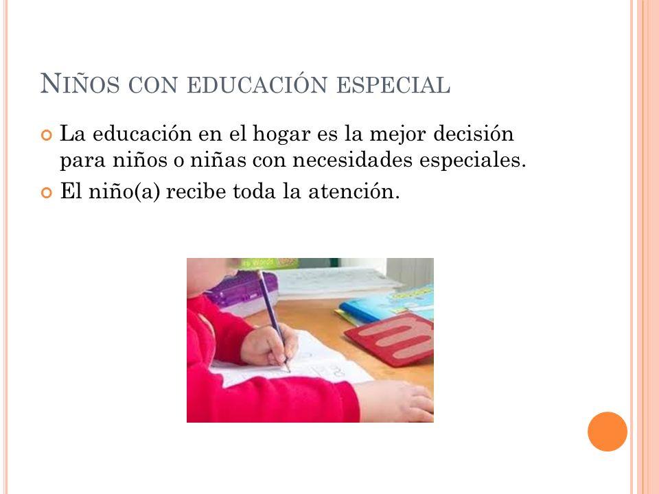 Niños con educación especial