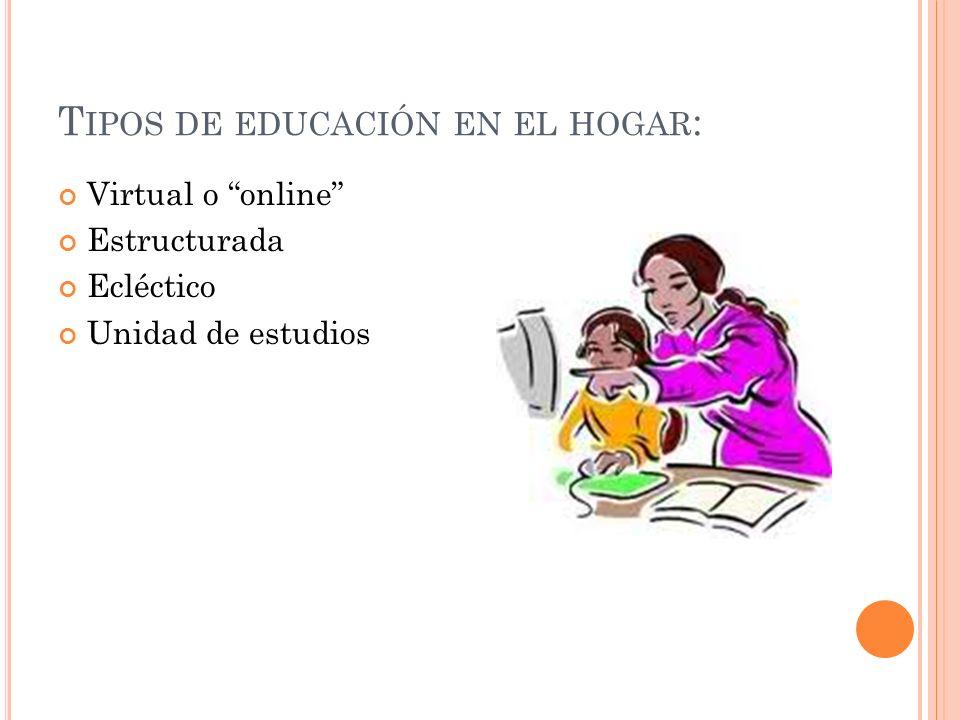 Tipos de educación en el hogar: