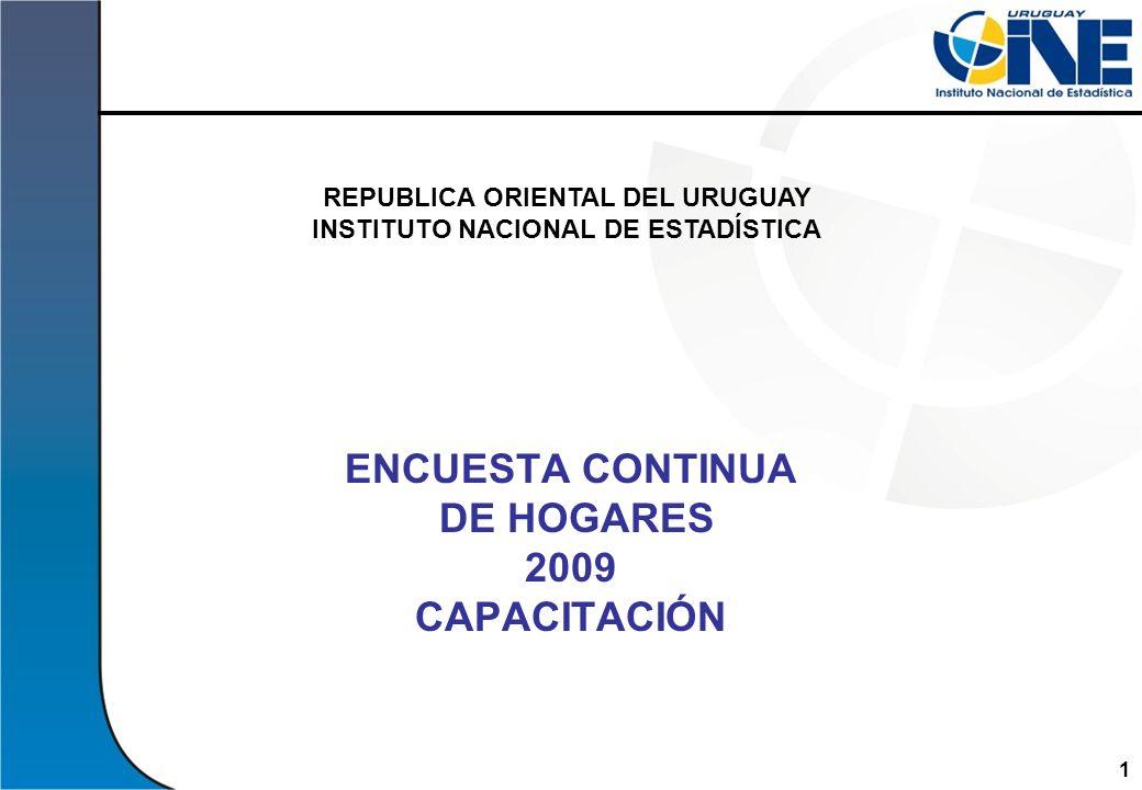 ENCUESTA CONTINUA DE HOGARES 2009 CAPACITACIÓN