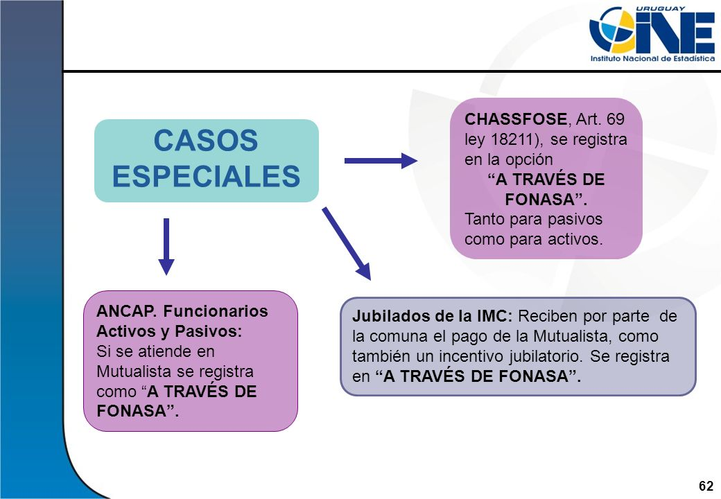 CHASSFOSE, Art. 69 ley 18211), se registra en la opción