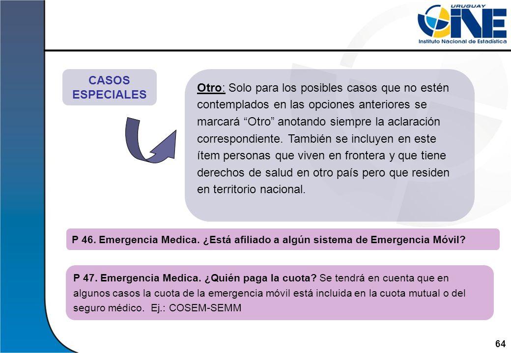 CASOS ESPECIALES.