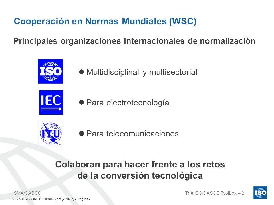 Cooperación en Normas Mundiales (WSC)