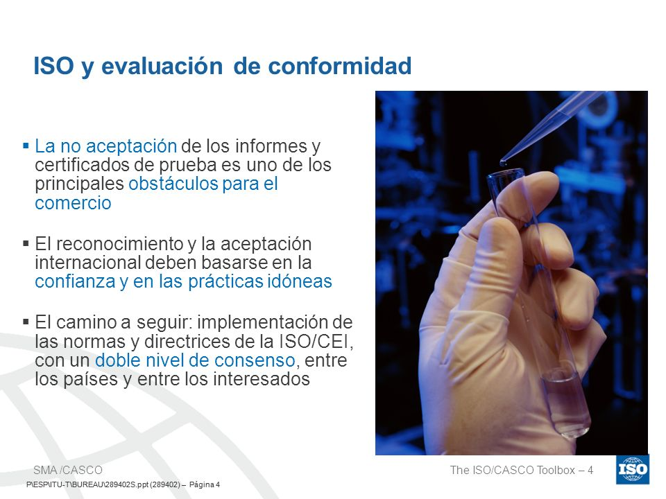 ISO y evaluación de conformidad