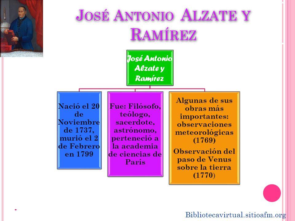 José Antonio Alzate y Ramírez