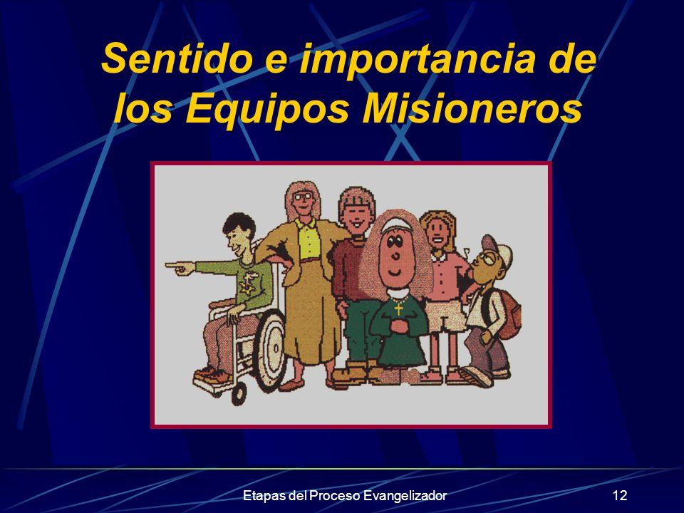 Sentido e importancia de los Equipos Misioneros