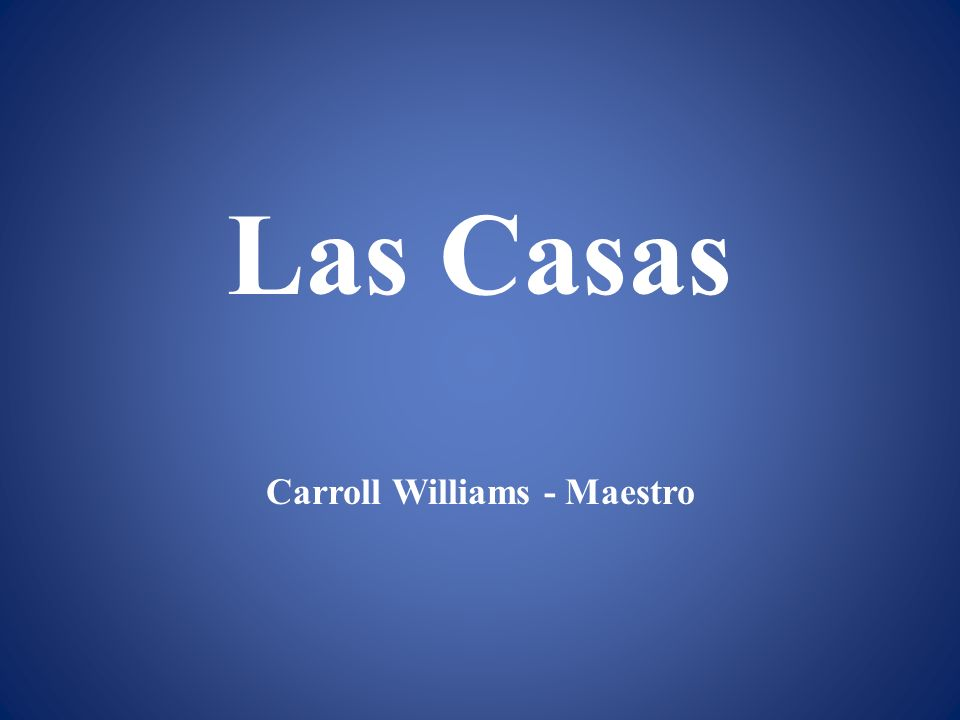 Carroll Williams - Maestro