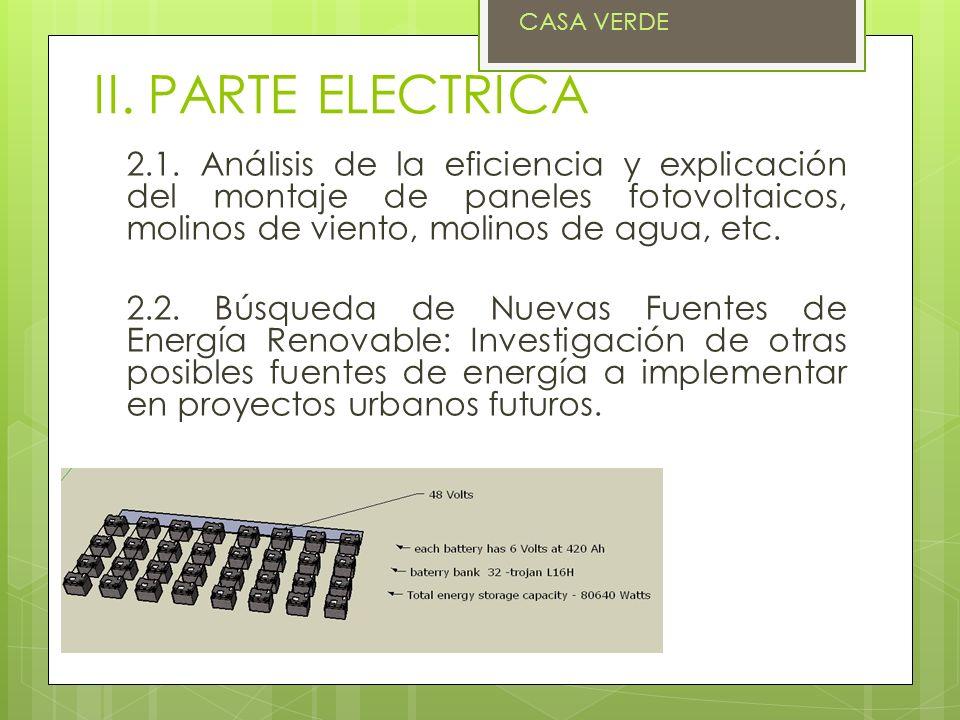 CASA VERDE II. PARTE ELECTRICA.