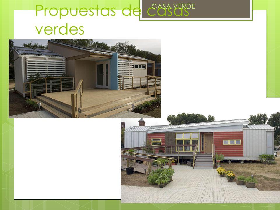 Propuestas de casas verdes