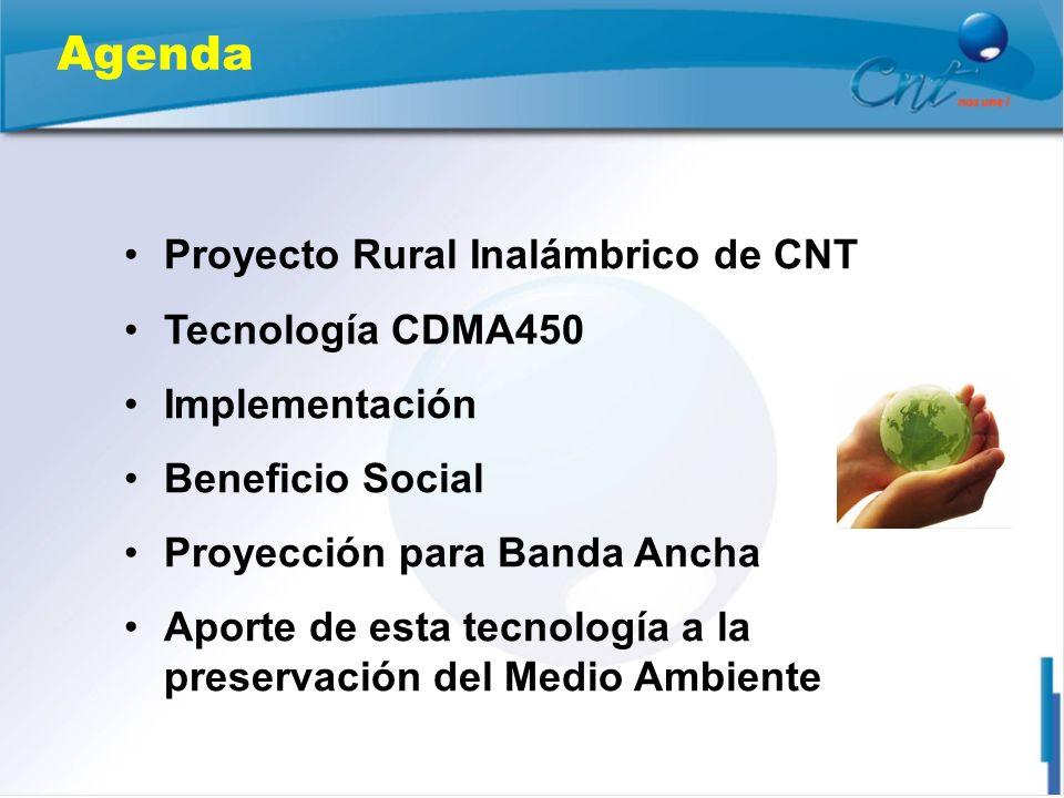 Agenda Proyecto Rural Inalámbrico de CNT Tecnología CDMA450
