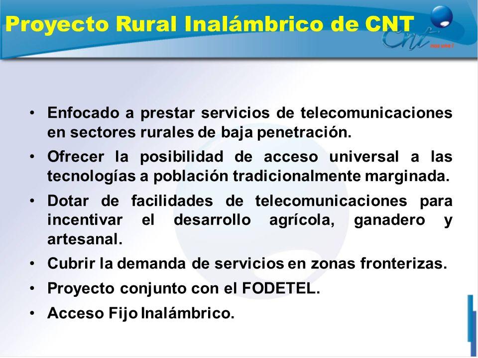 Proyecto Rural Inalámbrico de CNT