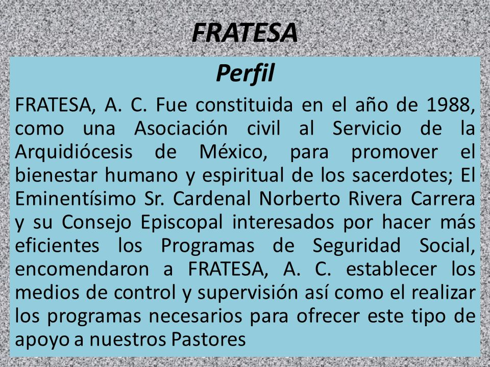 FRATESA Perfil.