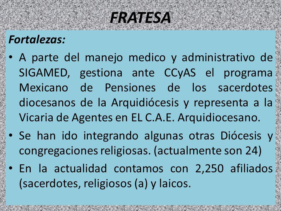 FRATESA Fortalezas: