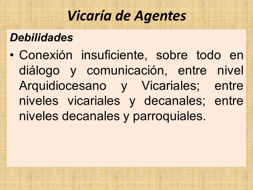 Vicaría de Agentes Debilidades.
