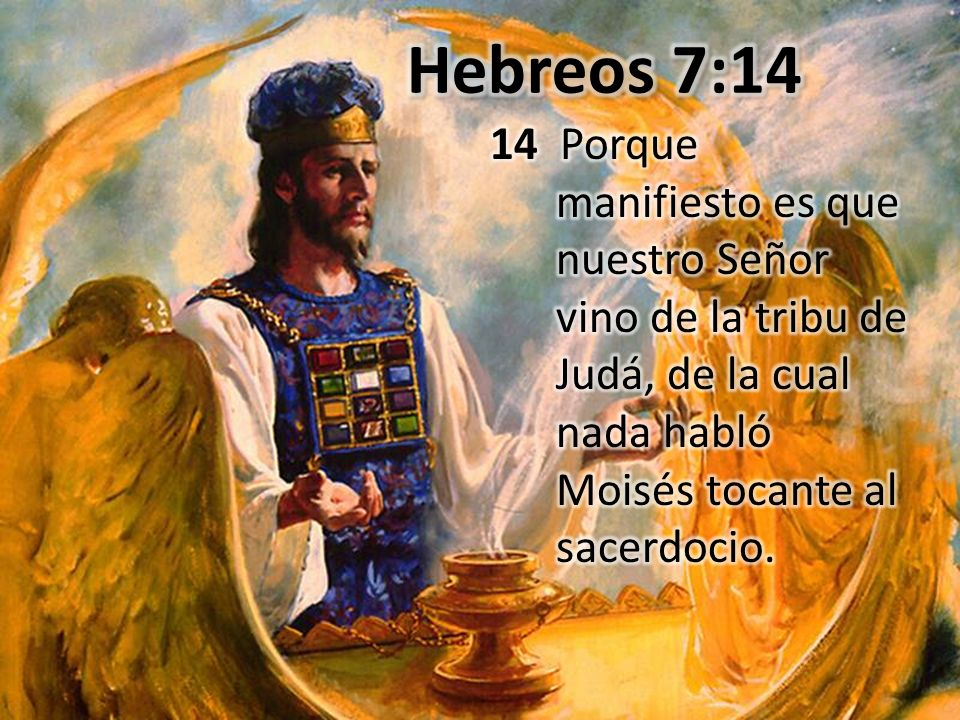 Hebreos 7:14 14 Porque manifiesto es que nuestro Señor vino de la tribu de Judá, de la cual nada habló Moisés tocante al sacerdocio.