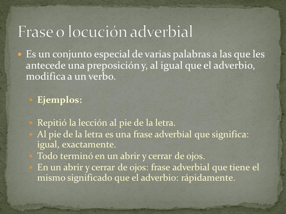 Frase o locución adverbial