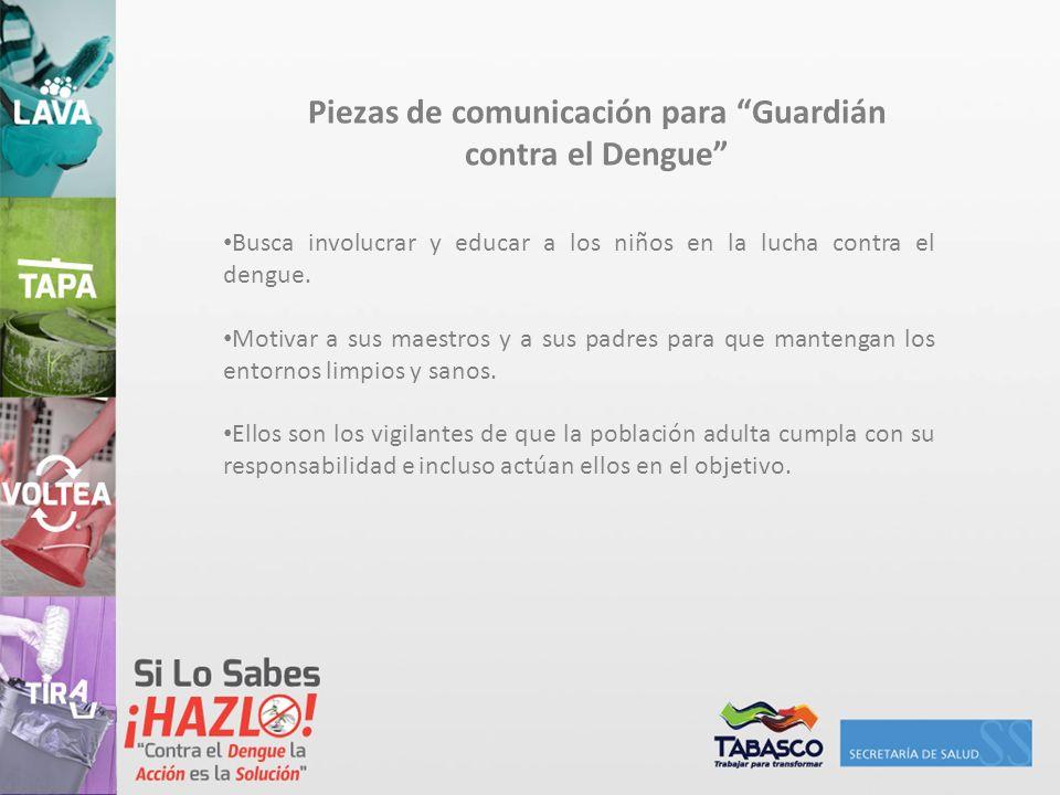 Piezas de comunicación para Guardián contra el Dengue
