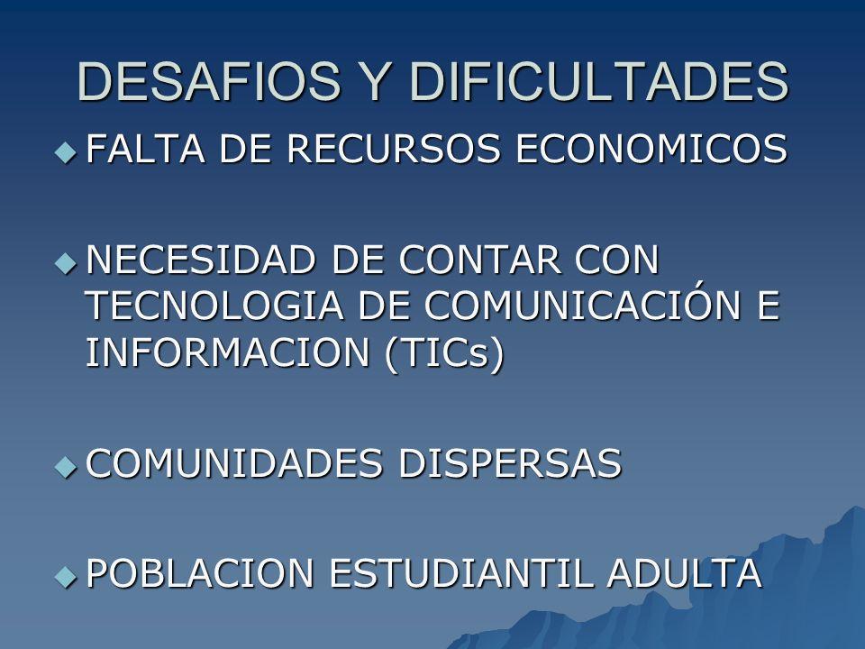DESAFIOS Y DIFICULTADES