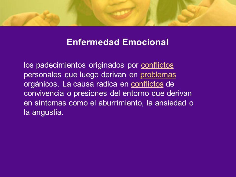 Enfermedad Emocional