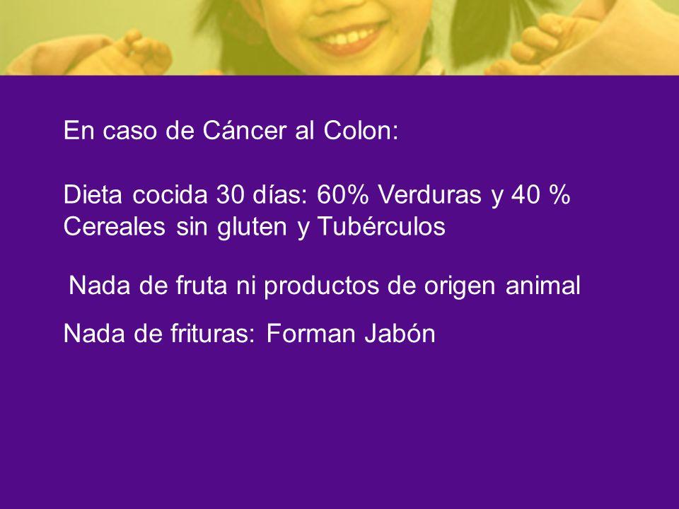 En caso de Cáncer al Colon: