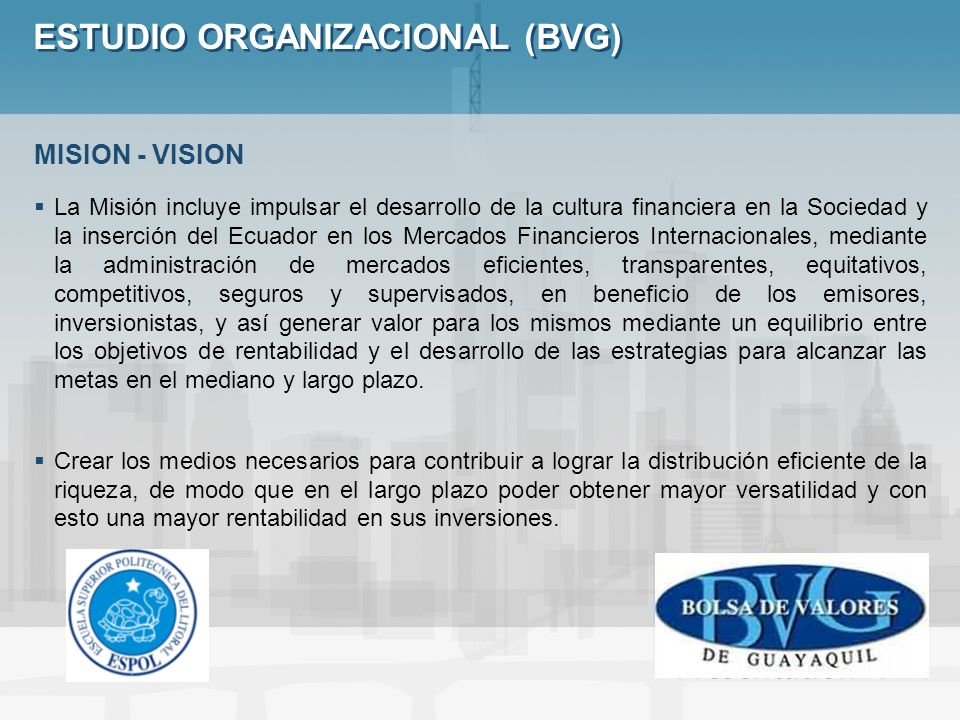 ESTUDIO ORGANIZACIONAL (BVG)