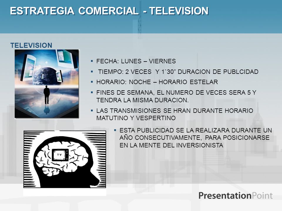 ESTRATEGIA COMERCIAL - TELEVISION