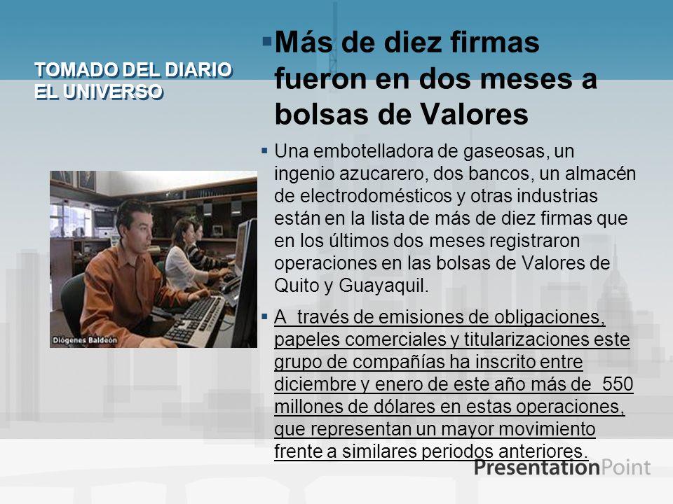 TOMADO DEL DIARIO EL UNIVERSO