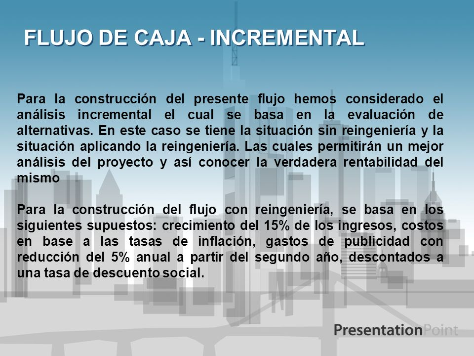 FLUJO DE CAJA - INCREMENTAL