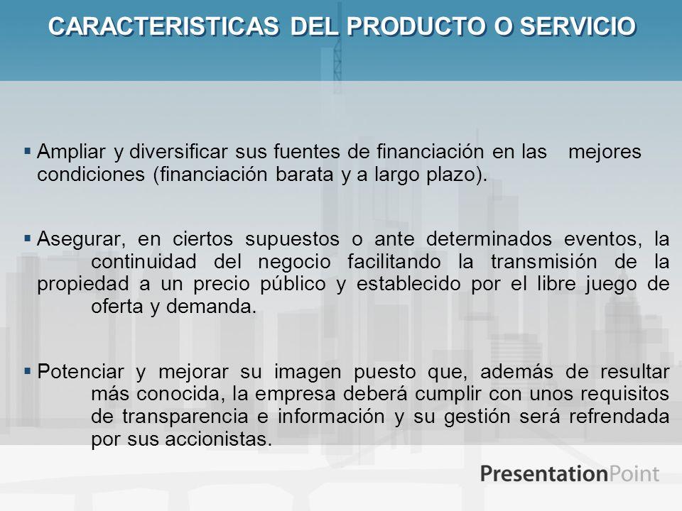 CARACTERISTICAS DEL PRODUCTO O SERVICIO