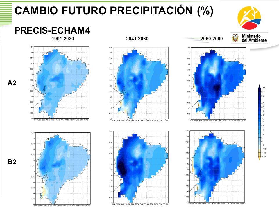 CAMBIO FUTURO PRECIPITACIÓN (%)