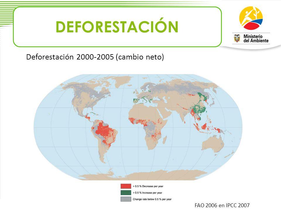 DEFORESTACIÓN Deforestación 2000-2005 (cambio neto)