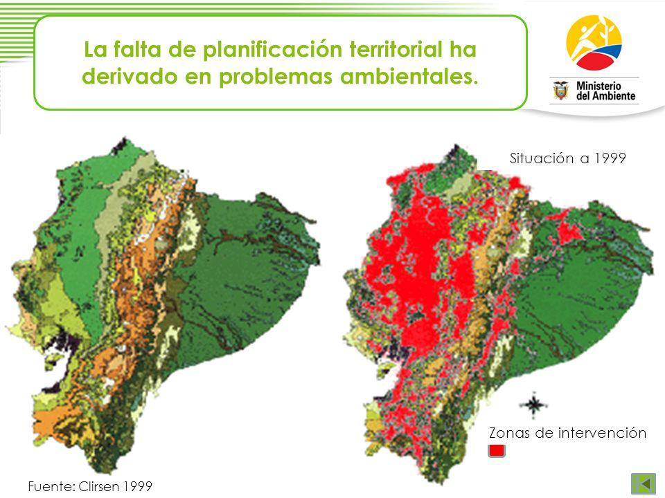 La falta de planificación territorial ha derivado en problemas ambientales.