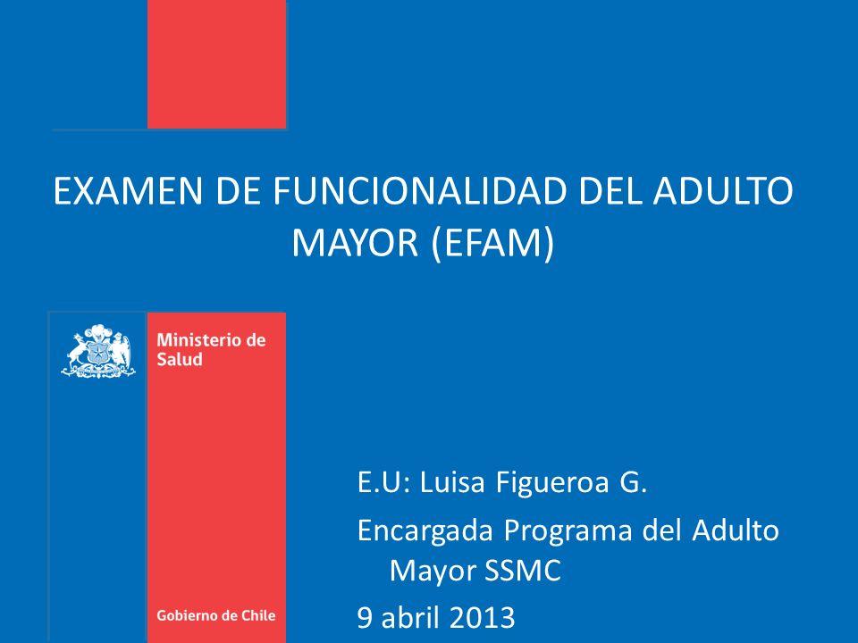 EXAMEN DE FUNCIONALIDAD DEL ADULTO MAYOR (EFAM)