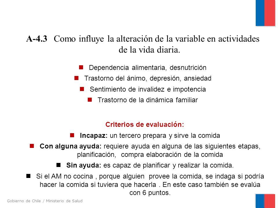 A-4. 3. Como influye la alteración de la variable en actividades