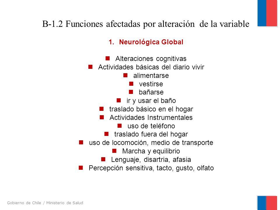 B-1.2 Funciones afectadas por alteración de la variable