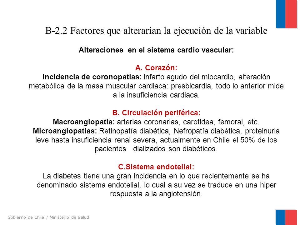 B-2.2 Factores que alterarían la ejecución de la variable