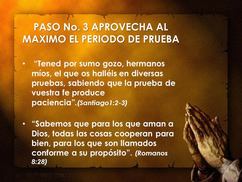 PASO No. 3 APROVECHA AL MAXIMO EL PERIODO DE PRUEBA