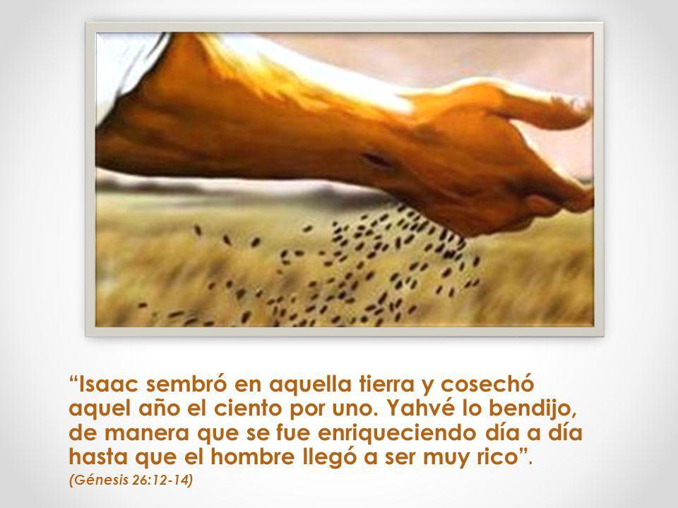 Isaac sembró en aquella tierra y cosechó aquel año el ciento por uno