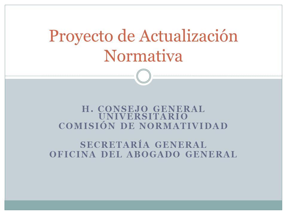 Proyecto de Actualización Normativa