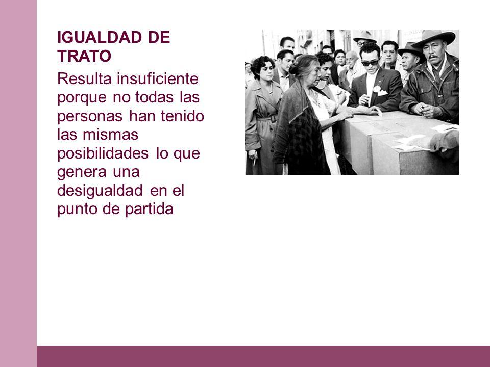 IGUALDAD DE TRATO