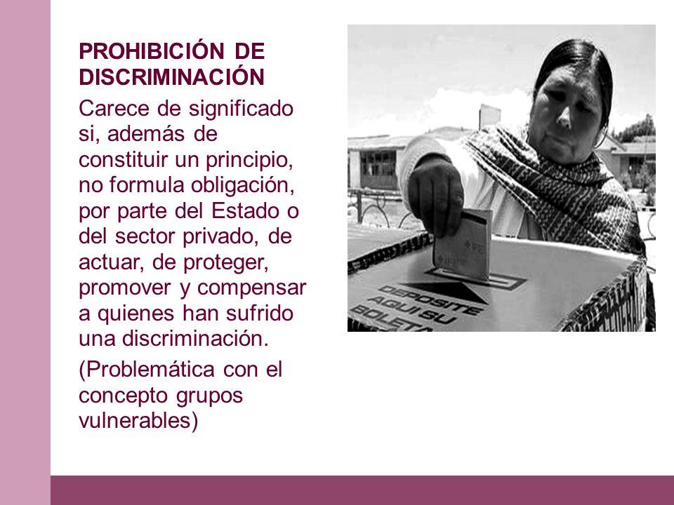 PROHIBICIÓN DE DISCRIMINACIÓN