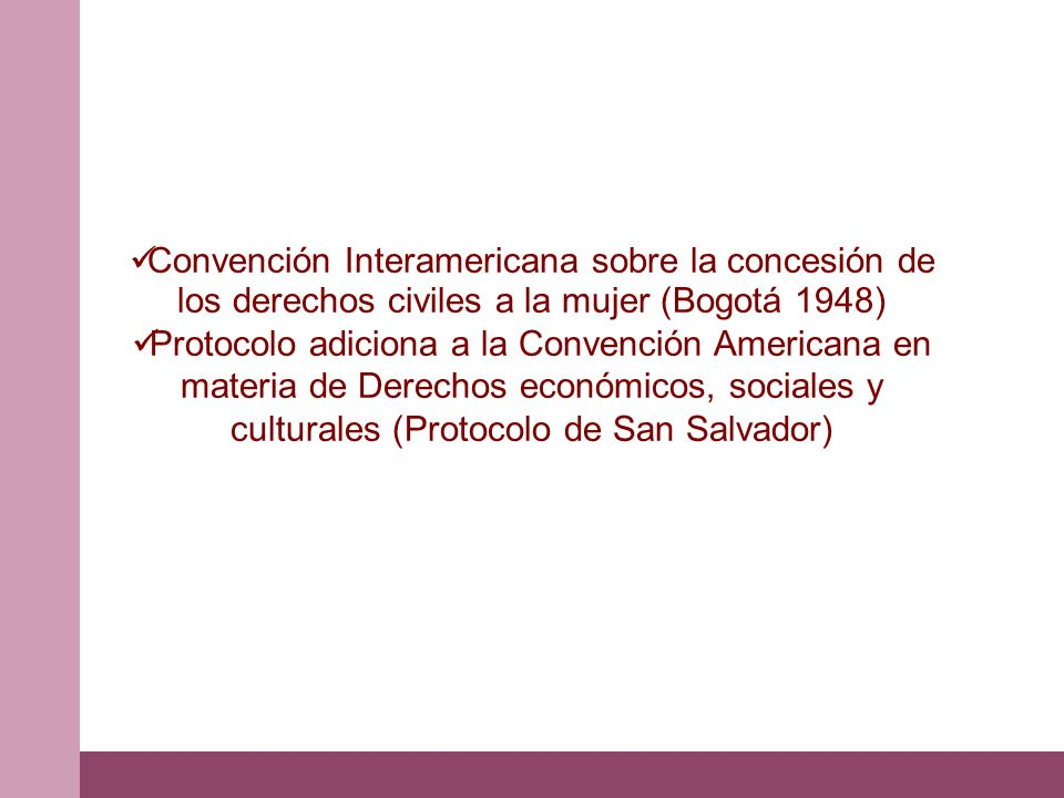 Convención Interamericana sobre la concesión de los derechos civiles a la mujer (Bogotá 1948)