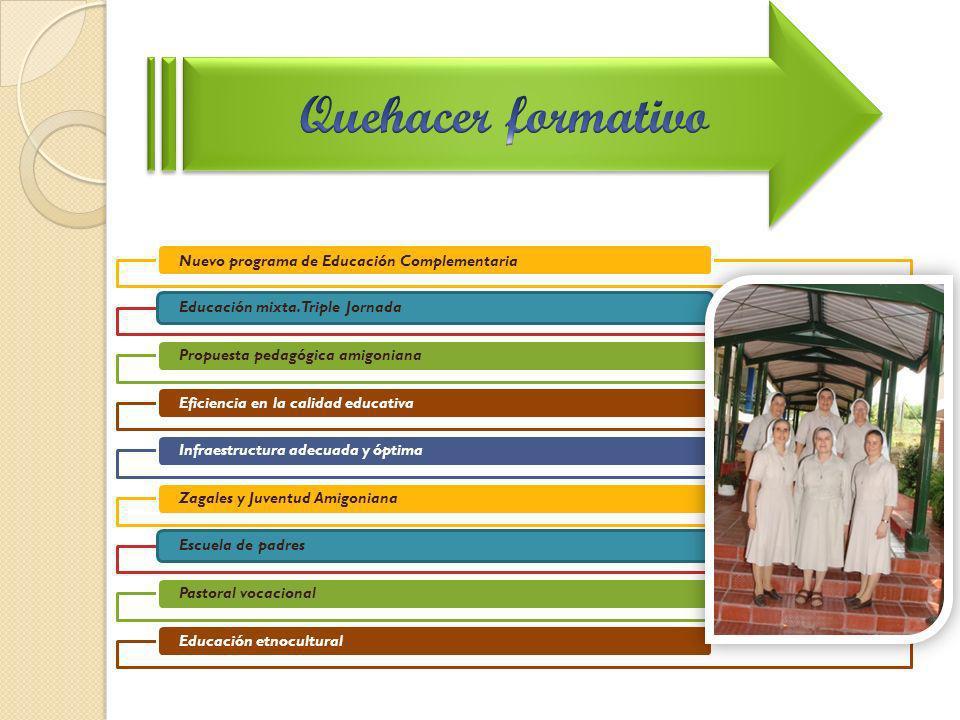 Quehacer formativo Nuevo programa de Educación Complementaria